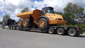 FLOAT SERVICE: 55 ton lowboy/RGN to move your heavy equipment