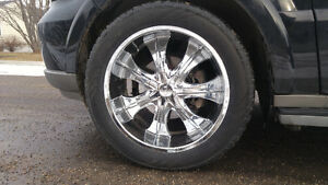 "22"" Velocity Chrome Wheel Rims Good Condition Nice Rims/ Tires"