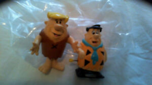 Vintage Flintstones Fred Wind-Up toy Barney rubber toy originals
