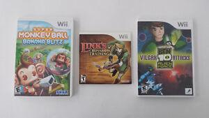 Jeux de Nintendo Wii - 10$ chaque ou 25$ pour les 3