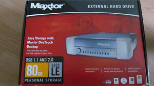 Maxtor 80 GB External HD
