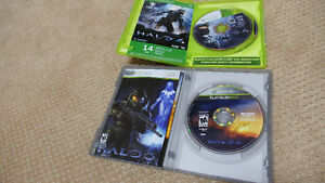 Halo 3 and 4 for Xbox 360. Asking $15