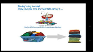 Wash and fold services . Free pick up and deliver !
