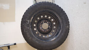 WINTER TIRES WITH RIMS FOR SALE ( 235 x 65 R17)