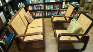 Love seat & 2 chairs