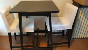 Ikea Norraker high top bar / cafe / dining table in black