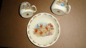 Lot of old Royal Doulton Bunnykins dishes