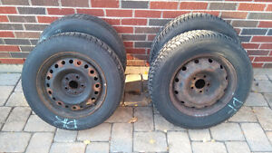 4 Winter tires with rims