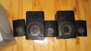 Surround sound system with amplifier