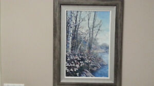 "James Keirstead Framed Oil  Painting... ""Trees and Trilliums"""
