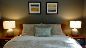 Lovely Bedroom, Fully Furnished, in Kits Townhouse, Maid Service