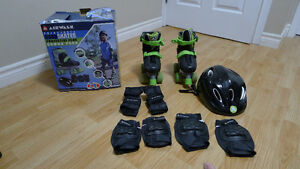 Airwalk Adjustable Quad Skates - Protective Gear Combo PaCK