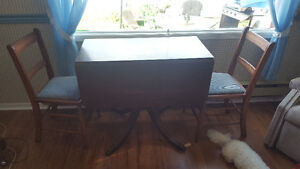 Duncan Phyfe table and kitchen table and 4 chairs