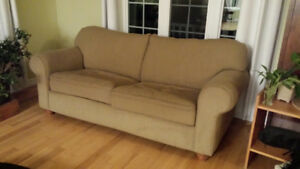 sofabed, carpet and coffee table