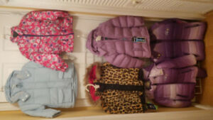 Girl Assorted Winter Coats, Size 3/4, 5/6 and 12