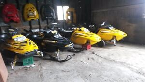 bombadier sleds for parts