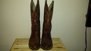 VINTAGE DINGO COWBOY BOOTS WITH EAGLE&COLOR 9.5D