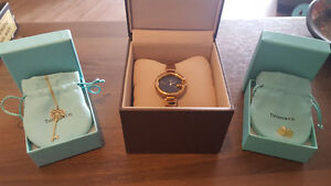 Tiffany & Co. Earrings & Pendant Necklace & Gucci Watch
