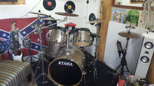 5 piece Tama Super Star drum kit!