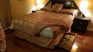 Ensemble de lit : base, sommier et matelas …