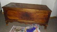 antique cedar trunk / chest