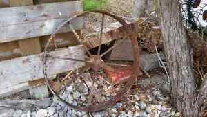 Old metal wheel  London Ontario image 1