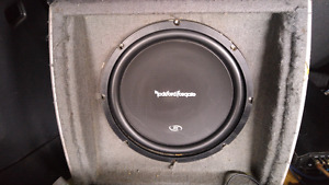 Rockford amp and sub