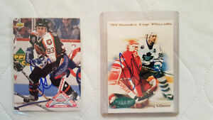 Two Signed Doug Gilmour Hockey Cards - Mint - Best Offer