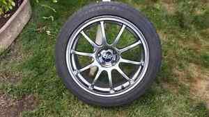 Set pneus Falken et mags 17 pouces 5x100 Rota Wheels