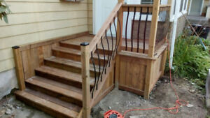 Front porch and concrete pad conversion to pressure treated wood