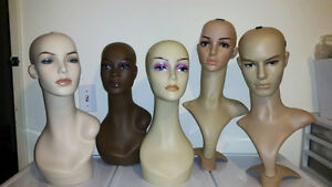 Wig display mannequin busts