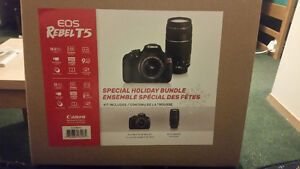 Brand New: Canon EOS Rebel T5 with two lens