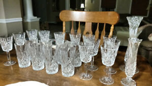 12 Nachtmann Crystal wine glasses, water glass and vases
