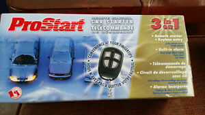 prostart remote car starter with alarm