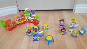 Fisher Price Little People train-set, birthday party, etc.