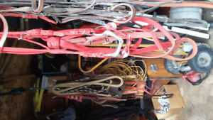 Horse tack.  For t.b racing.  Some riding horse items
