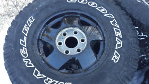 """Chevy 16"""" 4x4 Rims and Tires"""