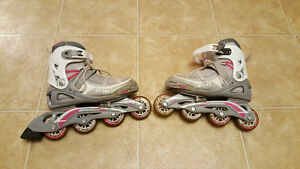 Girl's roller blades 5-8 size