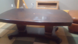Solid wood living room coffee table