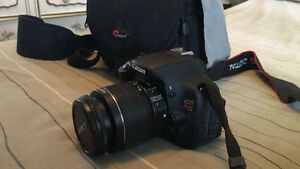 Canon Rebel 3ti, with 2 batteries, and carry case