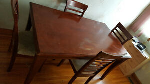 Cherry Dinette set with 4 chairs