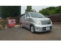 Nissan Elgrand 2.5 automatic 8 seater silver MPV day van only 53k miles 06