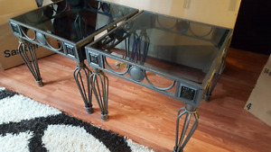 Glass end tables