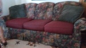 Sofa, chairs and carpet