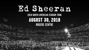 Front Section Floor Seats for Ed Sheeran in Toronto!