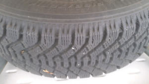 4 195/70/14 winder tires on rim like new $160