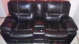 3 leather recliner couches great condition
