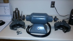 "8"" 'Baldor' Industrial Grinder/Polisher with heavy duty stand"