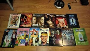 DVD/CD/VHS 1$ ou 25$ le lot DVD & 25$ CD (exclus supernatural)