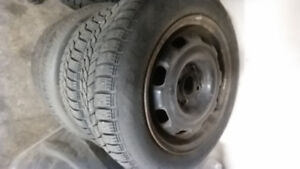 2 rims and tires for volkswagon 4 bolt